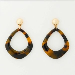 NWT LOFT GEO MARBLEIZED RESIN DROP EARRINGS